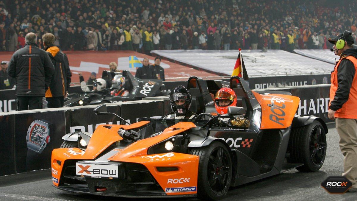 Diego Rodriguez Michael Schumacher Race of Champions Beijing race start metacool
