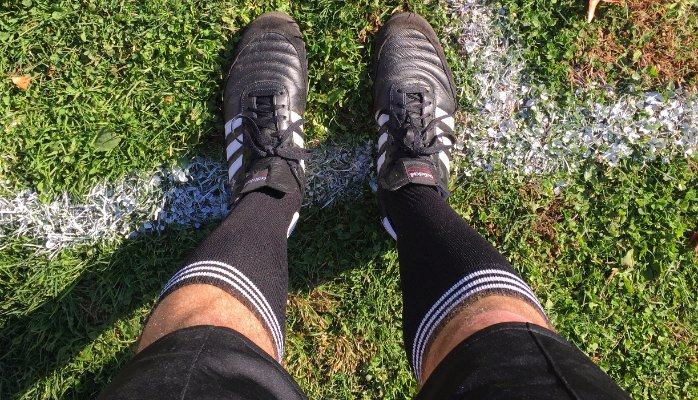 metacool my feet in refereeing soccer shoes
