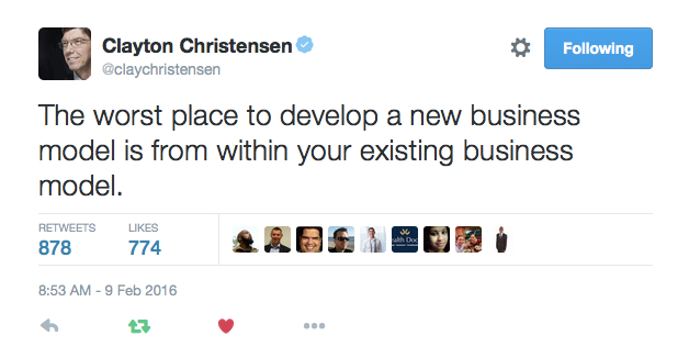 Clay Christensen Twitter